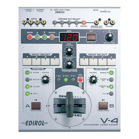 Mixer Edirol edirol v 4 four channel mixer 171 soundandvideorentals