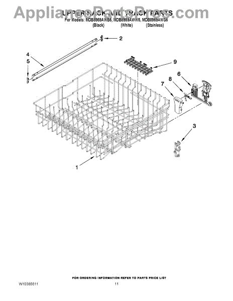 Track Rack Parts by Parts For Maytag Mdb8959aww5 Rack And Track Parts