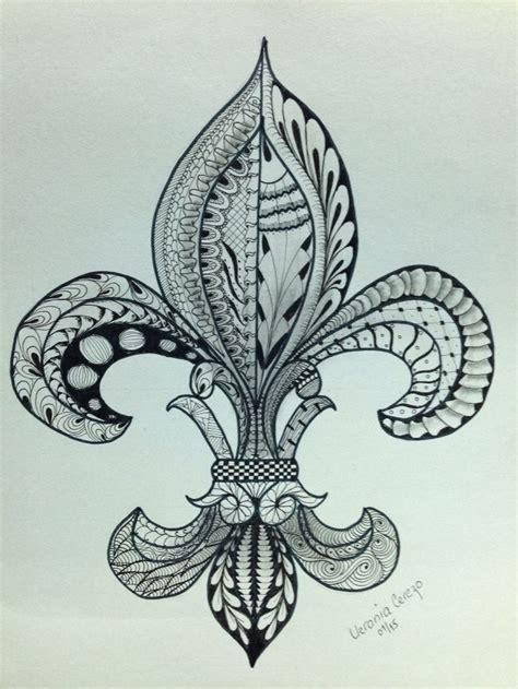 flor de lis tattoo flor de lis zentangle mis dibujos zentangle