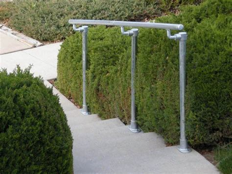 Galvanized Handrail by Surface 518 Surface Mount Railing Simplified Building