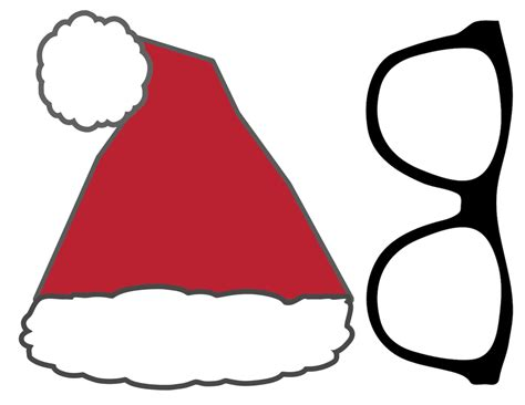 free christmas photo booth props printable paper trail