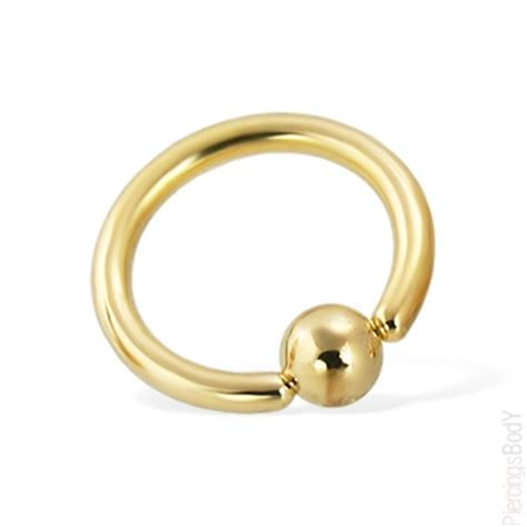 captive bead ring gold tone captive bead ring 12 ga piercings jewelry