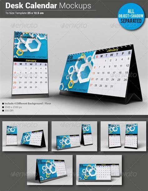 design calendar psd graphicriver desk calendar mockups