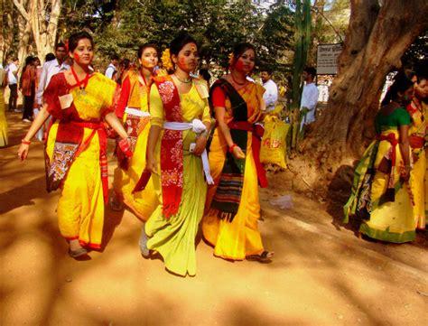 basanta utsav santiniketan west bengal india   festival packages hotels travelwhistle