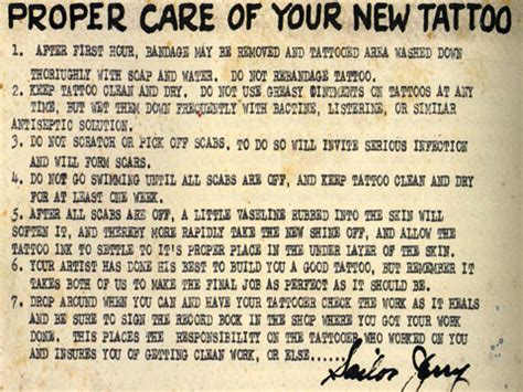 how to take care of tattoo sailor quotes quotesgram