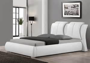 White Leather Platform Bed Gq3238 Usa Modern Leather Bed Welcome To Decoreza Furniture