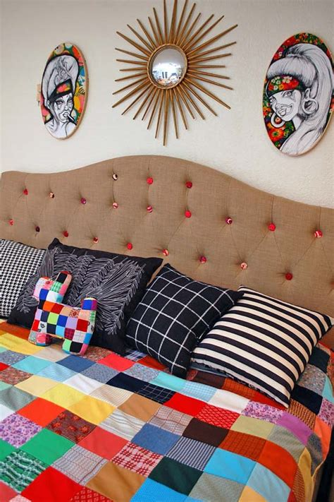 how to make a button headboard colorful rug headboard how to perkins
