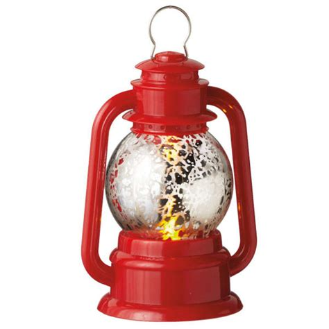 lighted red lantern christmas ornament