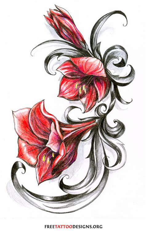 red flower tattoo designs flower gallery 70 flower designs