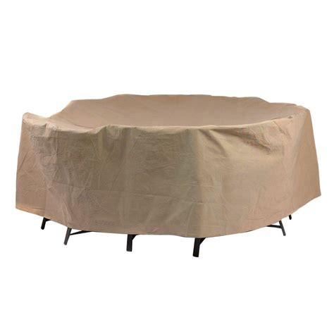 Duck Covers Essential 90 In Round Patio Table And Chair Cover For Patio Table And Chairs