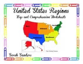 united states regions map skills worksheet and