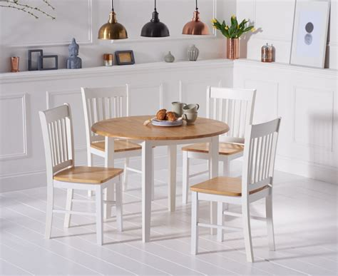 White Drop Leaf Table And Chairs Genoa Oak And White 100cm Drop Leaf Extending Dining Table And Chairs