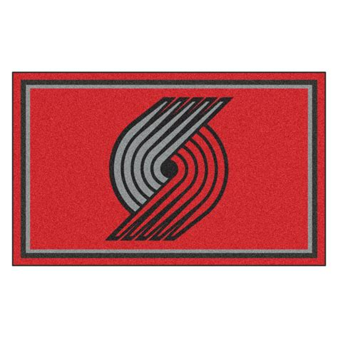 nba rugs fanmats nba portland trail blazers 6 ft x 4 ft indoor rectangle area rug 20442 the