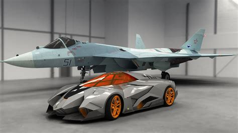 lamborghini egoista lamborghini egoista supercar and fighter 4k background