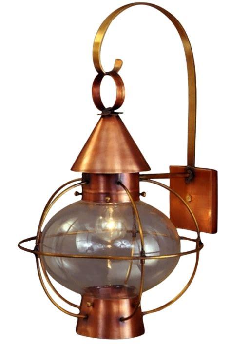 copper outside wall lights cape cod onion lantern copper wall light nautical rustic