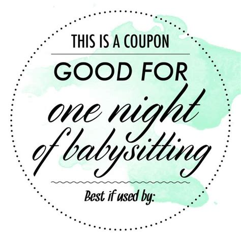 babysitting coupon template the world s catalog of ideas