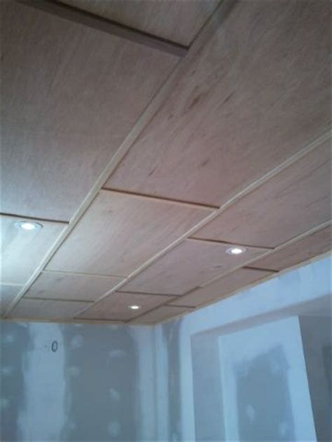 Plywood Ceiling Ideas by Finished Basement Ceiling Small Plywood Panels And Wood