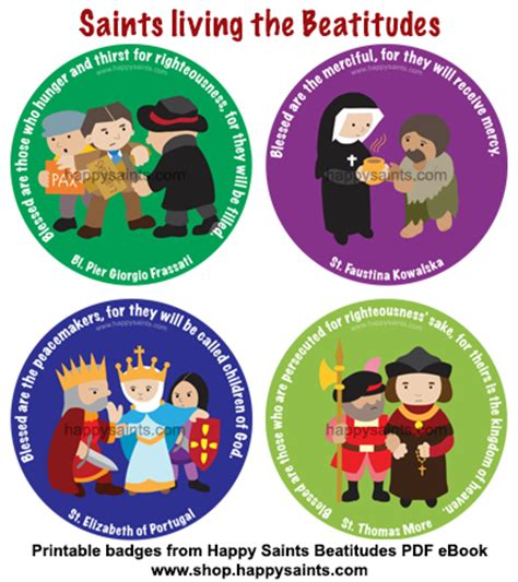 kingdom of happiness living the beatitudes in everyday books happy saints saints living the beatitudes badges