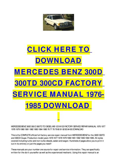 service repair manual free download 2009 mercedes benz cl65 amg parental controls mercedes benz 300d 300td 300cd factory service manual 1976 1985 download by cycle soft issuu