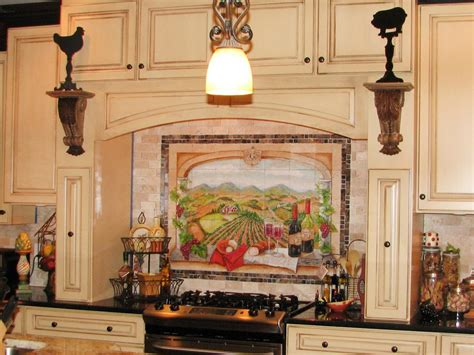 kitchen murals design vineyard kitchen decor pictures ideas tips from hgtv