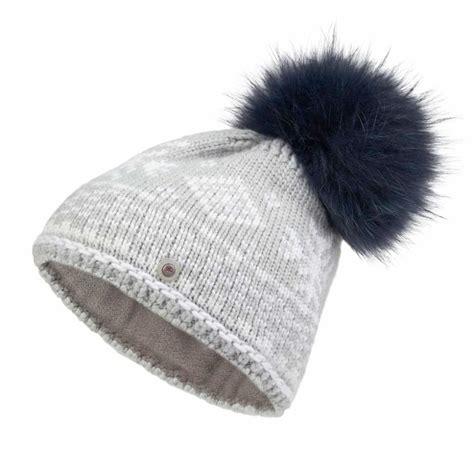 bogner carrie knitted womens ski hat in grey designer