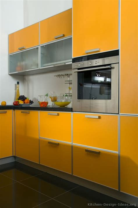 orange kitchen cabinet pictures of kitchens modern orange kitchens kitchen 1