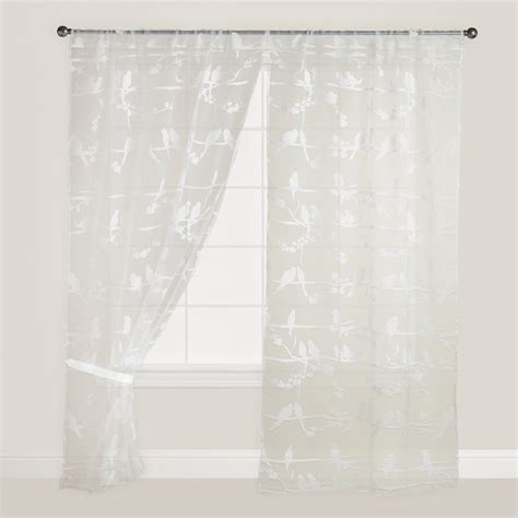curtains with birds on them birds on branch sheer burnout curtain world market