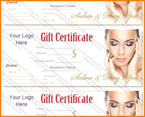 salon gift certificate template authorization letter