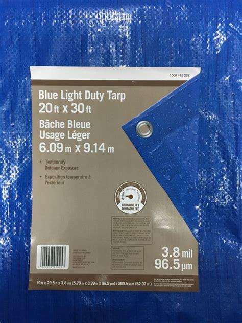 Home Depot Blue Tarp by Everbilt 20 X 30 All Purpose Blue Tarp The