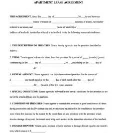 Apartment Rental Agreement Free Apartment Lease Agreement 2 Formxls