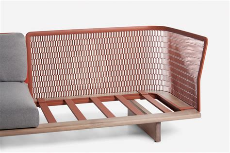 Wooden Sofas Designs Kettal Mesh Collection Outdoor Furniture With A Catchy