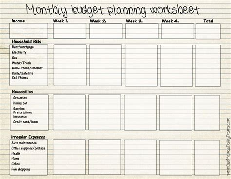 budget planner worksheet free printable best photos of free printable budget worksheets monthly