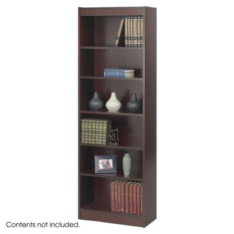 24 inch wide 6 shelf veneer baby bookcase in mahogany