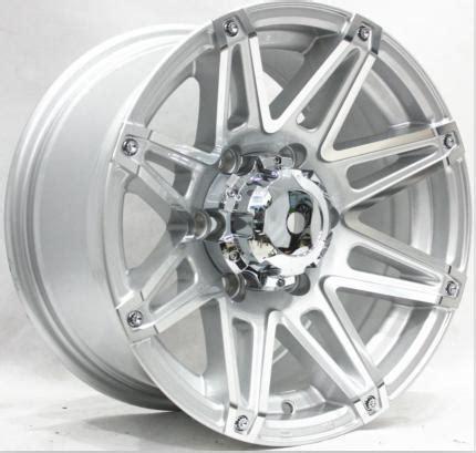 Aftermarket Aluminum Truck Wheels 20 Inch Aluminum Truck Silver And Black Rims 4x4 Road