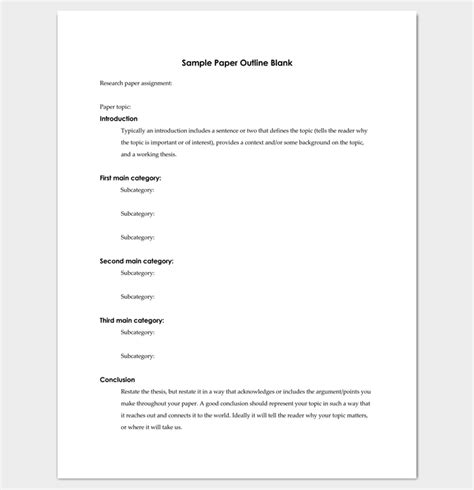 blank apa format template research paper outline template 36 exles formats