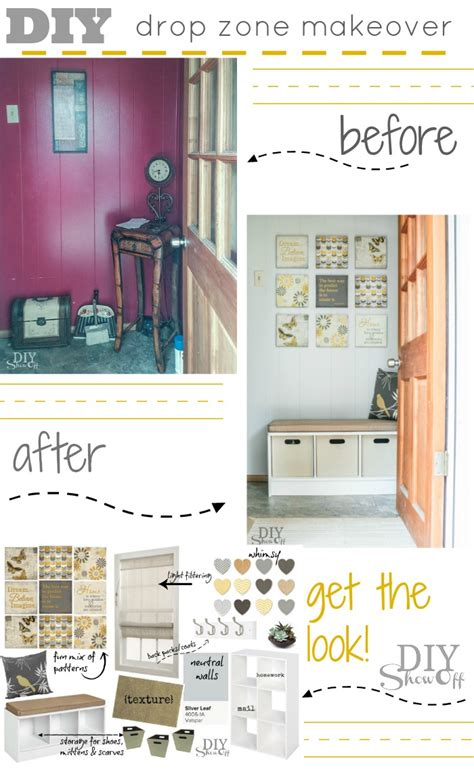 home design drop zone drop zone makeover back to school organization before