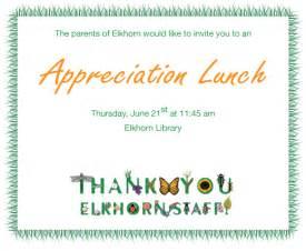 staff appreciation lunch 2012 elkhorn school council