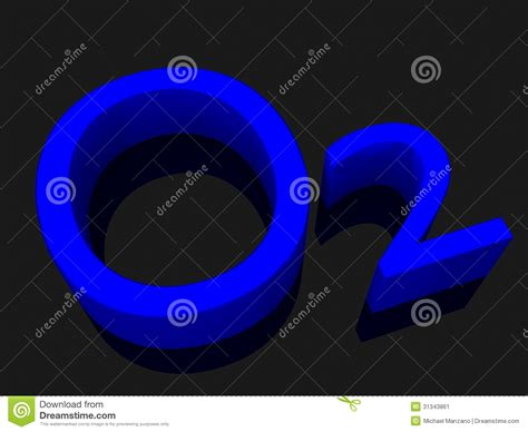 Blue From O2 Less Treacherous Than Black by O2 Oxygen Blue Lettering Stock Image Image 31343861