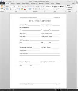 change of address word template change of address request template