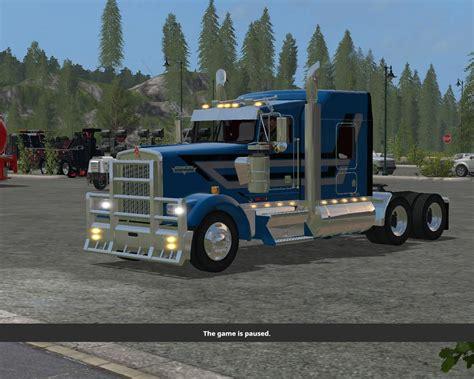 w900l kenworth trucks kenworth w900l fs2km v1 0 fs17 farming simulator 17 mod