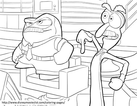 inside out feelings coloring pages disney s inside out coloring pages sheet free disney
