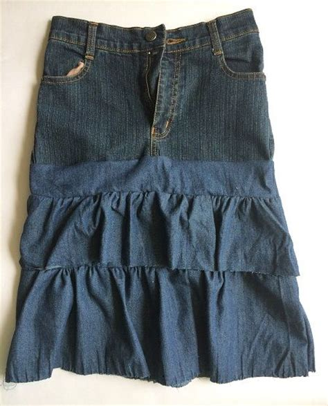 make a beautiful tiered ruffled jean skirt sew guide