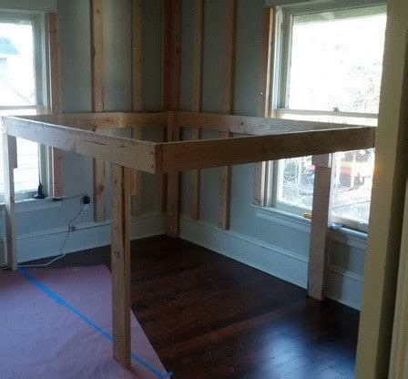 elevated bed frame diy elevated kids bed frame with storage area us2