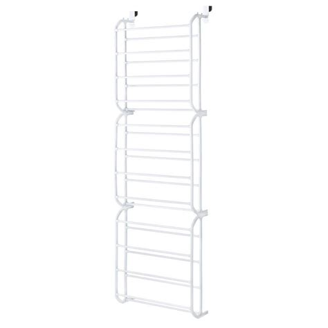 whitmor 36 pair the door shoe rack in white 6780 4679