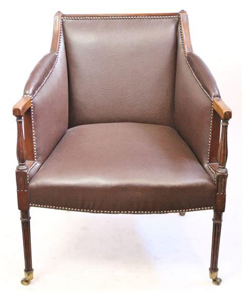armchair desk edwardian mahogany upholstered desk armchair