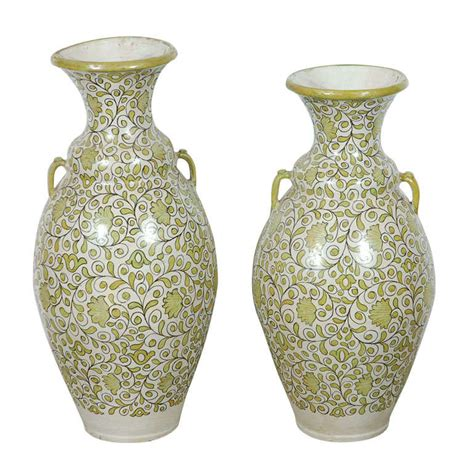 Moroccan Vases by Moroccan Green Vases With Handles For Sale At 1stdibs