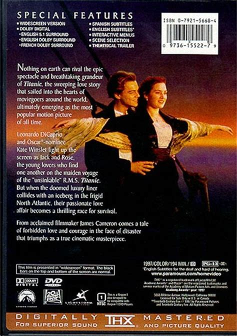 titanic dvd  dvd empire