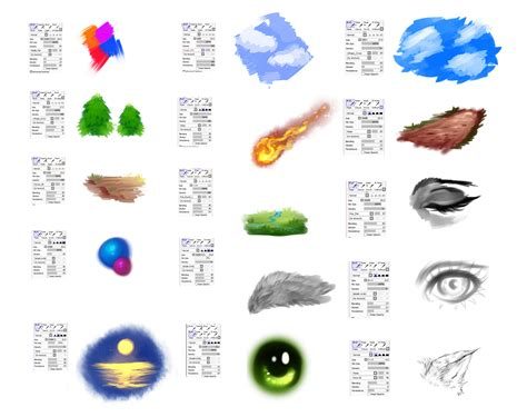 paint tool sai texture brushes settings for paint tool sai by ryky on deviantart