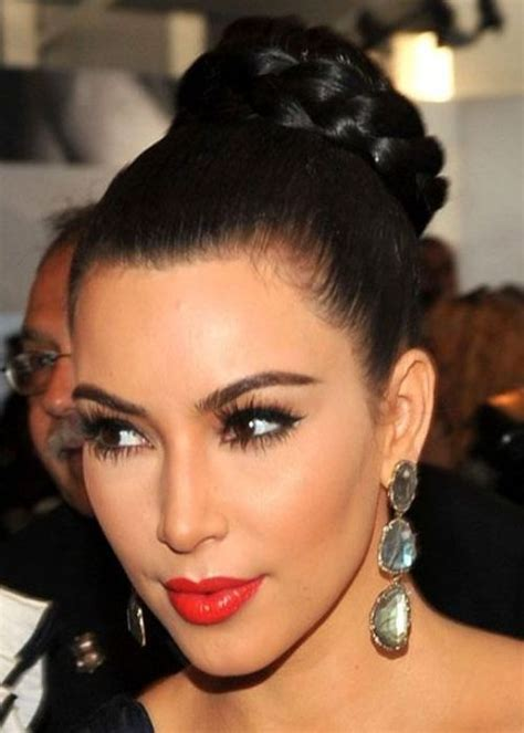 straight black hair pulled back in bun messy pulled back hairstyles with a bun ponytail and plait