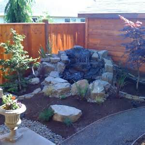 backyard water feature outdoors
